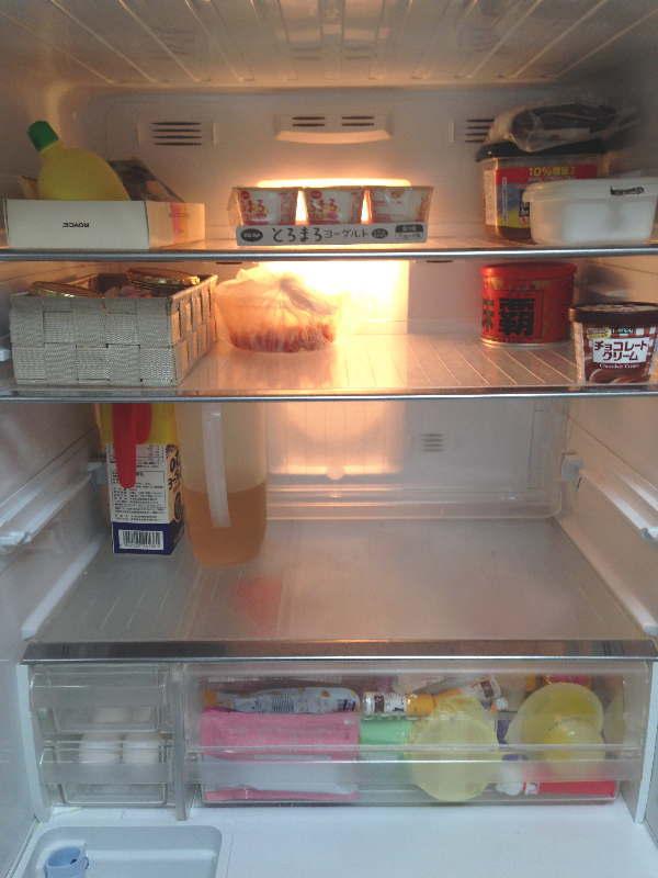 週末の冷蔵室