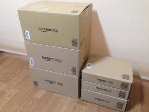 アマゾンのダンボール箱(XL08,XL06,XL02,XM39,XM39,XM33)