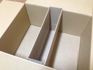 大きい箱に先ほど作ったものをセットします