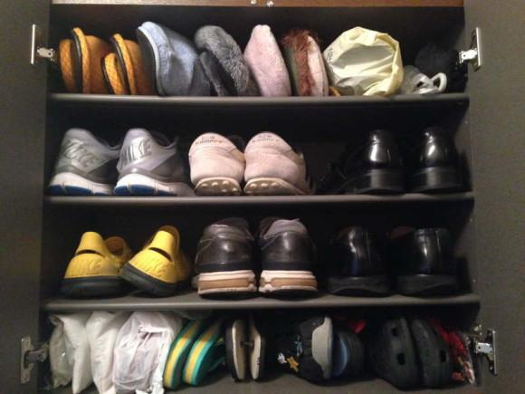 靴の数と下駄箱のサイズの標準
