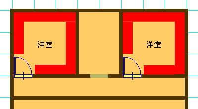 ウォークインクローゼットを設けた場合のほうが家具の配置がしやすい