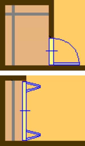 ステップインクローゼットと通常のクローゼットの比較