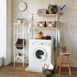 今までにもナチュラル系の洗濯機上ラックはありました。けど、Naturaランドリーラックは棚板にタモ材の突板を使っており、かなりナチュラル感が高いのです(普通は  ...