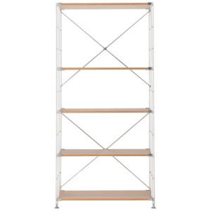 無印良品・ステンレスユニットシェルフ・オーク材棚セット・ワイド・大 幅86×奥行41×高さ175.5cm