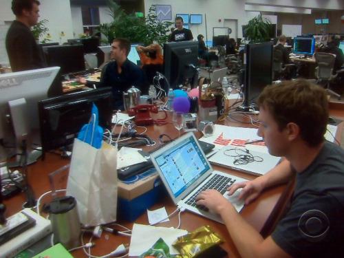 フェイスブックの創設者・CEOのマーク・ザッカーバーグの机の上