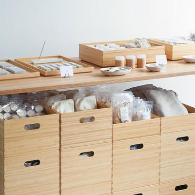 無印良品・積み重ねができる竹材収納用品