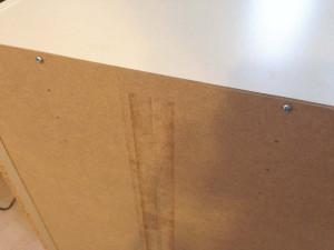 ニトリのカラーボックスの裏板