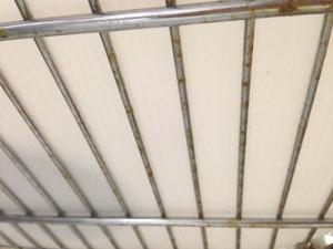 食洗機の蒸気で錆びてしまったアイリスオーヤマのメタルラックの棚板