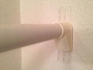 PPシートを壁にホッチキスで固定
