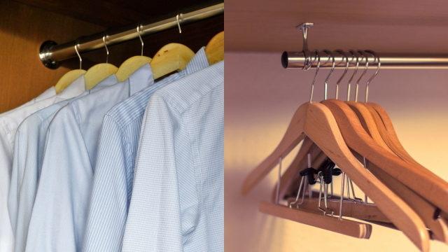 パイプハンガーをDIYで設置する場合は壁から壁に渡すか、枕棚から吊るか