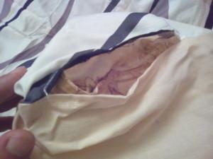 ニトリの掛け布団カバーのスリット