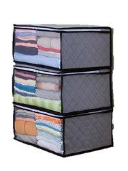 アマゾン・活性炭 衣類整理袋3枚組 (グレー)