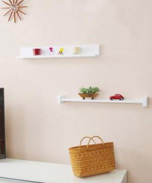 ニトリ・ピンで取付け・壁掛け飾り棚・H型&L型