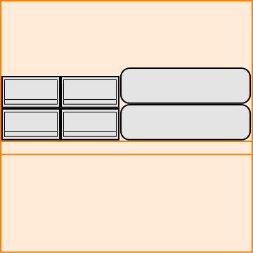 衣装ケース2列2段の横に布団