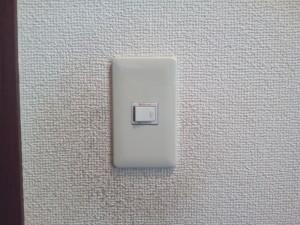 洗面脱衣所のスイッチプレート