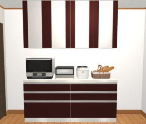 家電収納付き食器棚