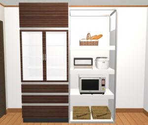 食器棚+家電ラック