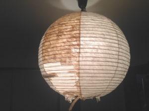 ボロボロになった我が家の和風ペンダントライト