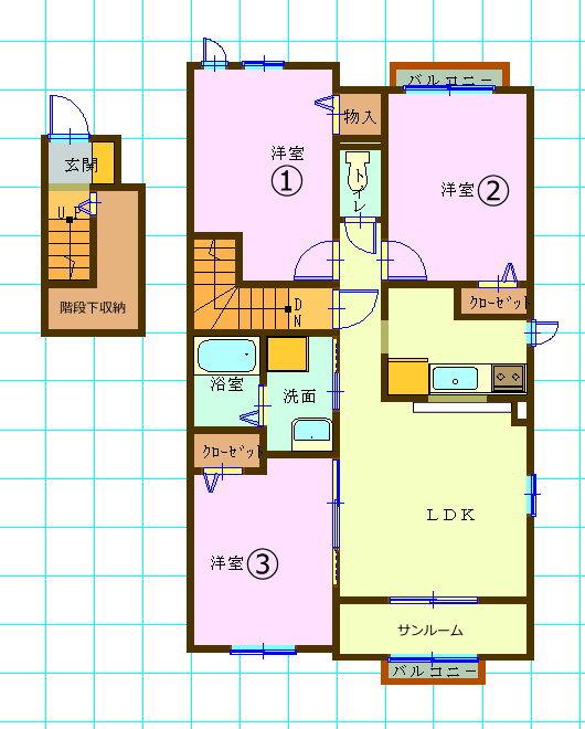 大東建託の賃貸集合住宅・3LDK富山市