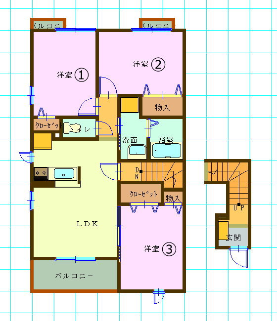 大東建託の賃貸集合住宅・3LDK愛知県豊橋市