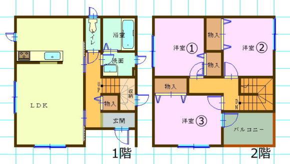 ミサワホーム・一戸建て賃貸・3LDK新潟県長岡市