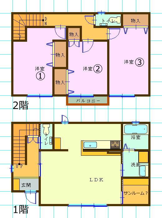 新築一戸建て賃貸・3LDK・秋田県秋田市