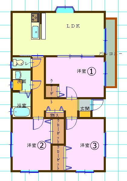 平屋一戸建て賃貸・3LDK・宮城県仙台市青葉区