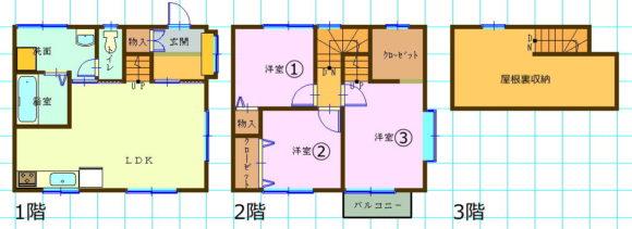 テラスハウス(3SLDK/長野県松本市)