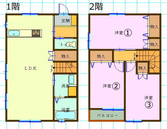 テラスハウス(3LDK/栃木県宇都宮市)