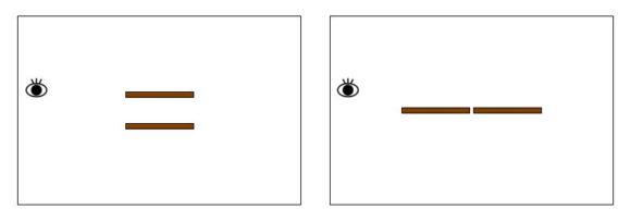 2本を横一列に並べれば部屋が広く見える