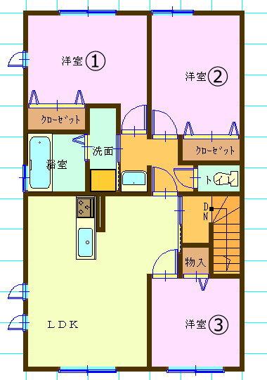 賃貸集合住宅(3LDK/長崎県佐世保市)