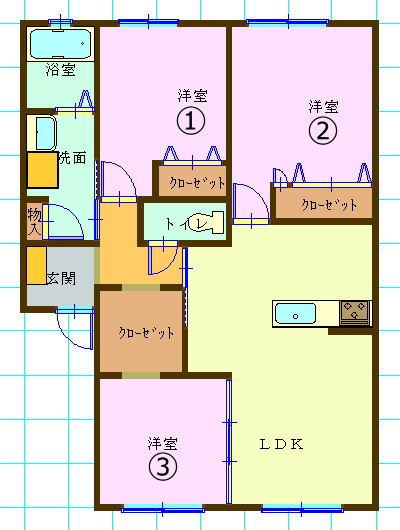賃貸集合住宅(3LDK/熊本県八代市)