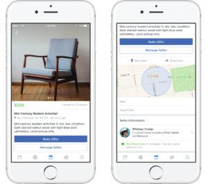 フェイスブック・マーケットプレイス取引画面