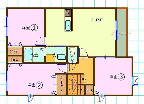 賃貸集合住宅(3LDK/兵庫県神戸市)