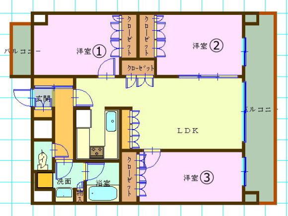 賃貸マンション(3LDK/京都市上京区)