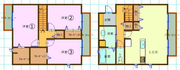 一戸建て賃貸(3LDK/滋賀県草津市)