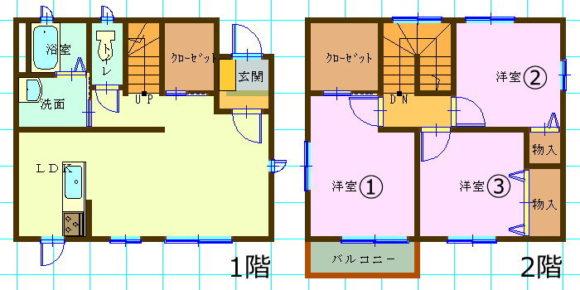 一戸建て賃貸(3LDK/山口県山口市)