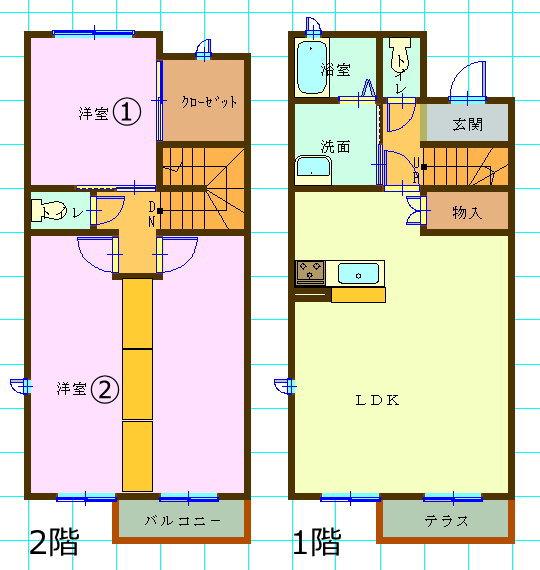 テラスハウス(3LDK/三重県津市)
