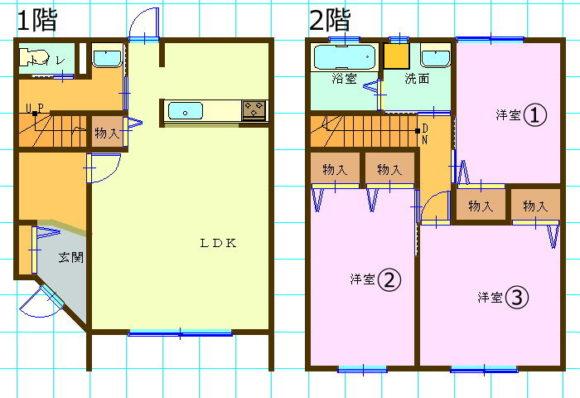テラスハウス(3LDK/和歌山県和歌山市)
