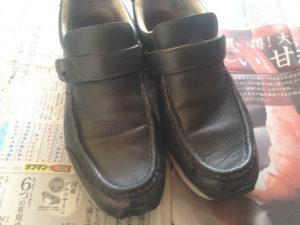 ミスターミニッツの皮革用クリームでリフレッシュしたニューバランスの靴
