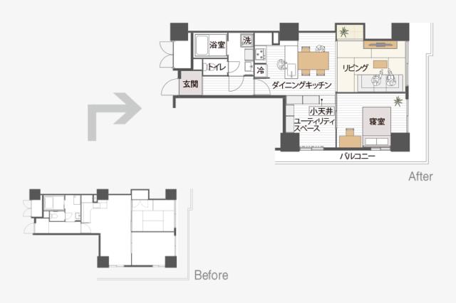 MUJI×UR・アーバニア千代田(愛知県名古屋市)54.94m²