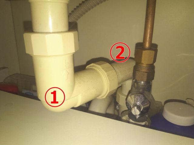 2ヶ所の直角クランクがある我が家の洗面台の排水管