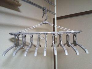 アルミのびのび9連ガーのフレームはアルミ製で丈夫