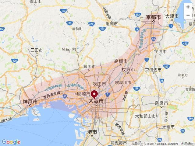 無印良品の整理収納サービス、グランフロント大阪を起点とした対象エリア