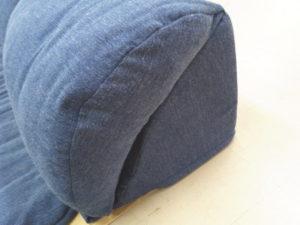 ラグが洗えるコーナークッションのクッション側面