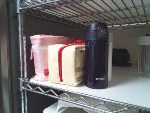 娘のお弁当箱は食洗機の上のスペースに置くことに