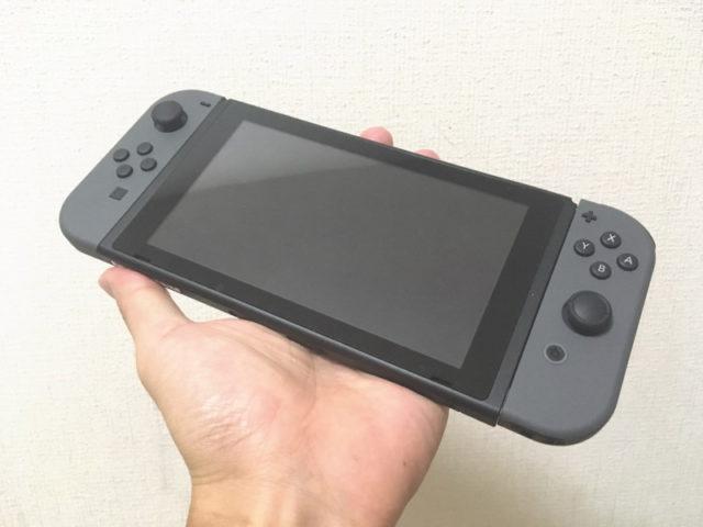 ニンテンドーswitchを携帯型ゲーム機として使用する状態