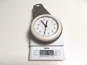 Drop Water バスクロックの重量は電池込みで169g