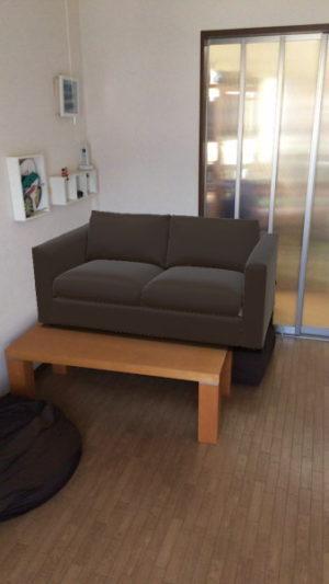 家具を奥に置いた場合のサイズ感がおかしいことが問題