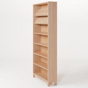 無印良品・組み合わせて使える木製収納・本体・ミドルタイプ・奥行21cm・タモ材/ナチュラル 幅80×奥行21×高さ175.5cm
